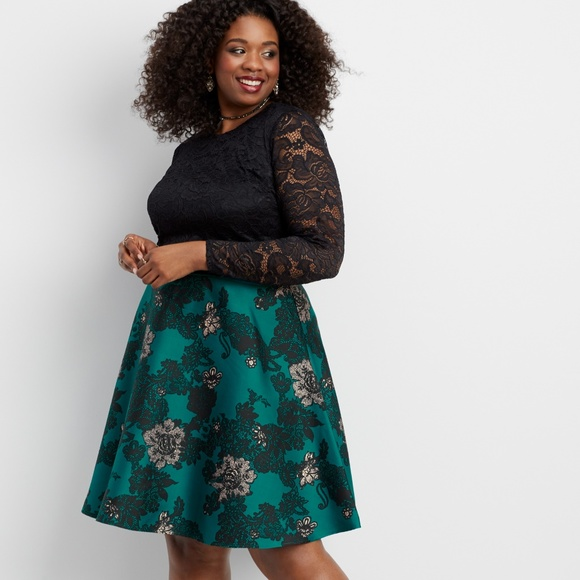 Maurices Dresses | Plus Size Two Piece Dress In Lace And Floral ...
